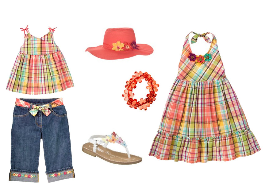 Plaid Coral Gymboree small
